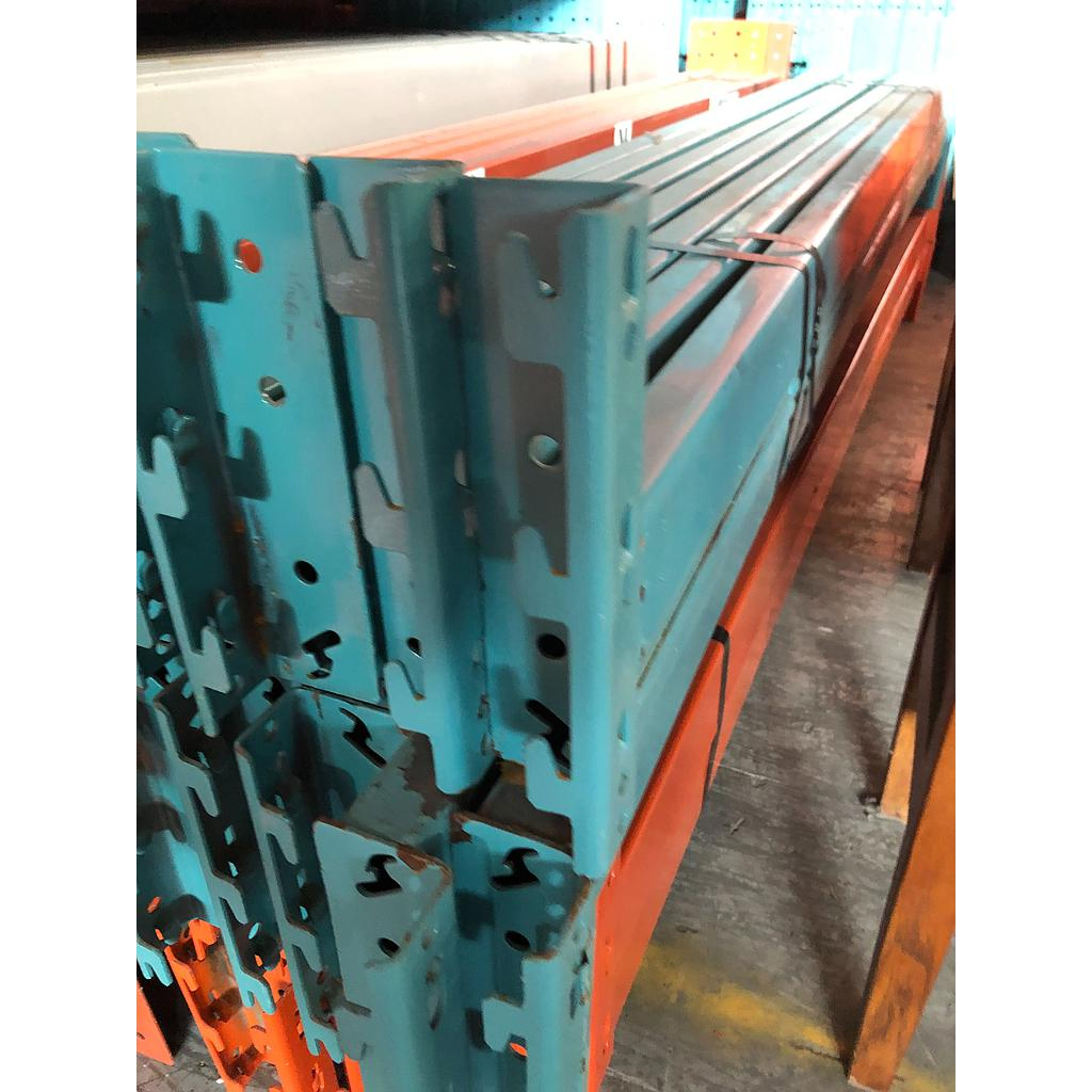 "Racking Beam RR Used 96""L x 3.5""H x 1.5""W GM Blue"