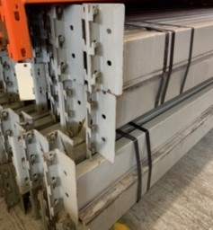 "Racking Beam RR Used 96""L x 5""H x 1.5""W Grey"