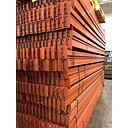 "[interb144] Racking Beam Teardrop Used 144''L x 5""H x 1.5''W Rolled-in-step 1.5/8"" Base Beam Old-Style"