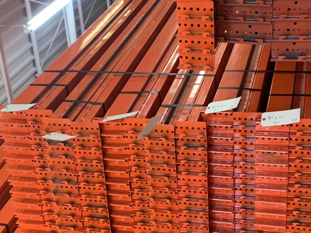 "[rrb96] Racking Beam RR Used 96""L x 4""H x 1.5""W Rolled-in-step 1.5"" Orange"